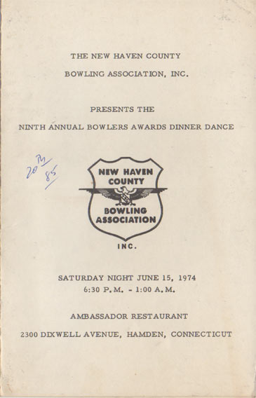 1974 Awards Dinner Booklet Cover