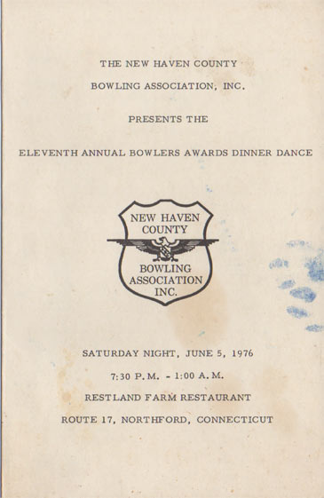 1976 Awards Dinner Booklet Cover